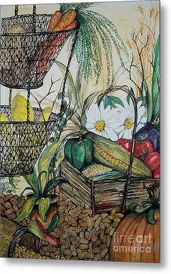 Plentiful Harvest Metal Print by Laneea Tolley