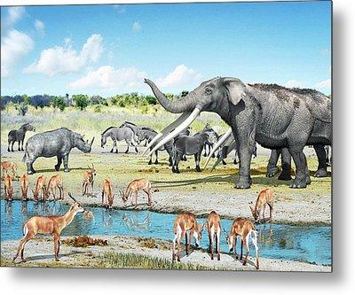 Pliocene Fauna Metal Print by Jose Antonio Pe�as