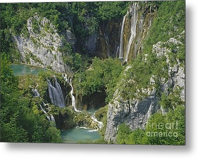 Metal Print featuring the photograph Plitvice Lakes In Croatia by Rudi Prott