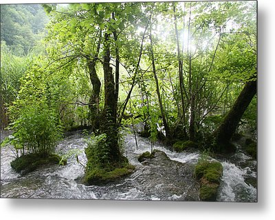 Metal Print featuring the photograph Plitvice Lakes by Travel Pics