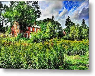 Plott Road Farmhouse Metal Print