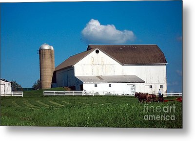 Metal Print featuring the photograph Plowing The Field by Gena Weiser