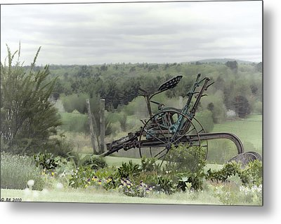 Plowing Through The Past Metal Print by Richard Bean