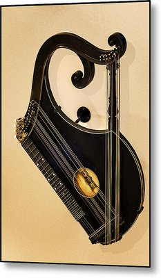 Plucked Vienna Zither Metal Print