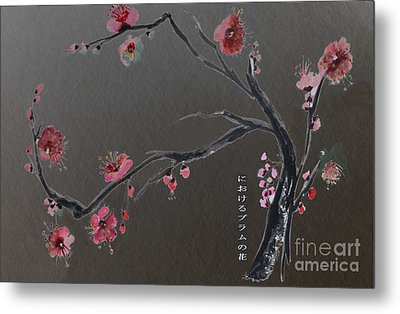 Plum Flower Metal Print by Sibby S