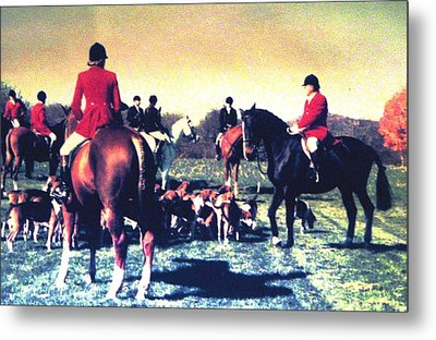 Metal Print featuring the photograph Plum Run Hunt Opening Day by Angela Davies