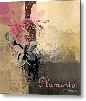 Plumeria - 64-115152167m4t3b Metal Print by Variance Collections