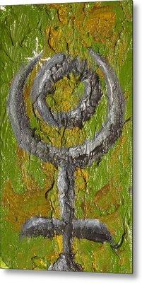 Pluto Glyph Metal Print by Jeffrey Oleniacz
