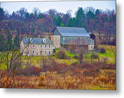 Plymouth Farm Metal Print by Bill Cannon