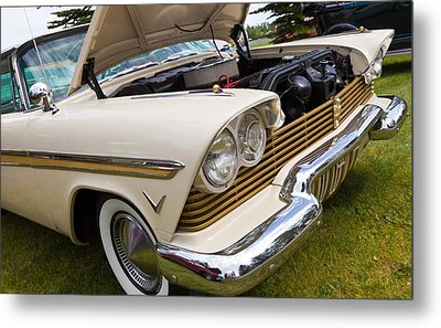 Metal Print featuring the photograph Plymouth Fury Cream by Mick Flynn
