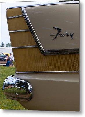 Plymouth Fury Tail Fin Detail Metal Print by Mick Flynn
