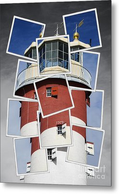 Plymouth Hoe Lighthouse Metal Print by Donald Davis