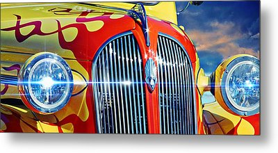 Classic Car Metal Print featuring the photograph Plymouth Oldie by Aaron Berg
