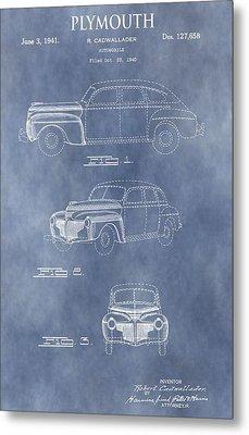 Plymouth Patent Metal Print