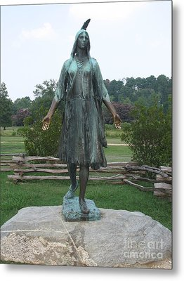 Pocahontas Sculpture Metal Print by Christiane Schulze Art And Photography