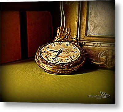 Pocket Watch Metal Print