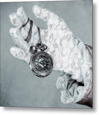 Pocket Watch Metal Print by Joana Kruse