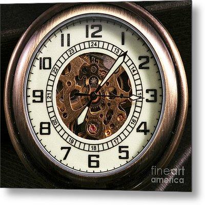 Pocket Watch Metal Print by John Rizzuto