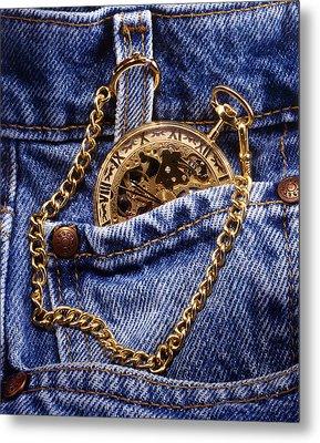Pocket Watch Metal Print
