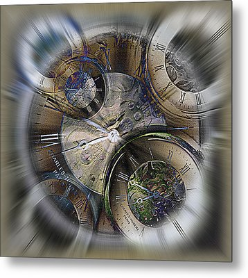 Pocketwatches 2 Metal Print by Steve Ohlsen