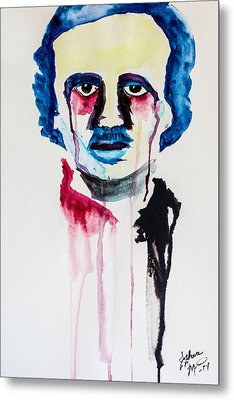 Metal Print featuring the painting Poe by Joshua Minso