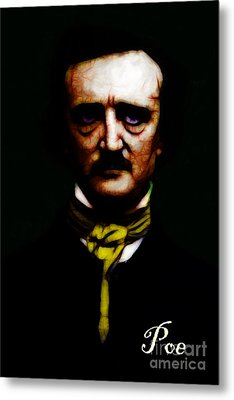 Poe Metal Print by Wingsdomain Art and Photography