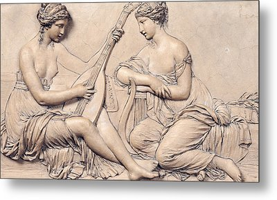 Poetry And Music Metal Print by Claude Michel Clodion