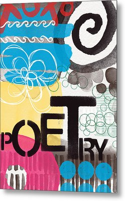 Poetry- Contemporary Abstract Painting Metal Print