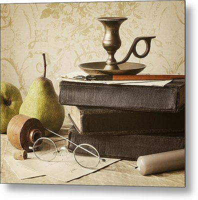 Poet's Corner Metal Print by Amy Weiss