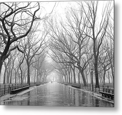 New York City - Poets Walk Central Park Metal Print by Dave Beckerman