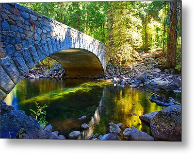Pohono Bridge Yosemite National Park Metal Print