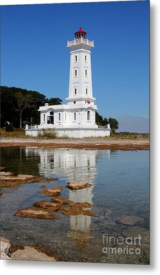 Point Abino Reflections Metal Print
