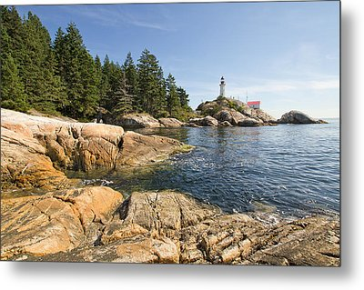 Metal Print featuring the photograph Point Atkinson Lighthouse In Vancouver Bc by JPLDesigns