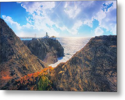 Point Bonita Lighthouse - Marin Headlands 2 Metal Print by Jennifer Rondinelli Reilly - Fine Art Photography