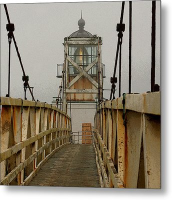 Point Bonita Lighthouse Metal Print by Art Block Collections