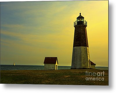 Point Judith Lighthouse Metal Print by Diane Diederich