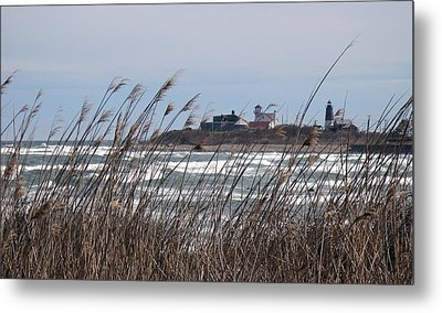 Metal Print featuring the photograph Point Judith Lighthouse by Glenn DiPaola
