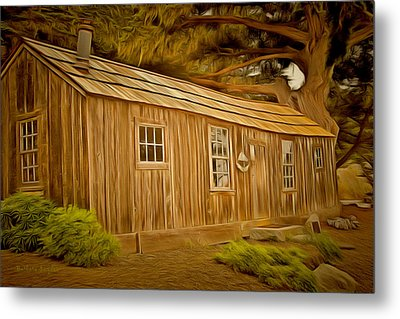Point Lobos Whalers Cabin Metal Print by Barbara Snyder