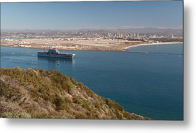 Metal Print featuring the photograph Point Loma Looking Toward San Diego by Scott Rackers