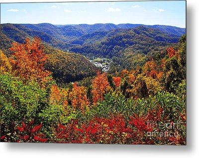 Point Mountain Overlook In Autumn Metal Print by Thomas R Fletcher