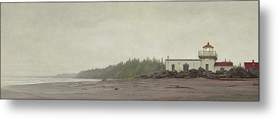 Point No Point Lighthouse Metal Print by Ron Crabb
