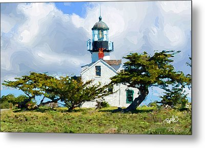 Point Pinos Lighthouse - Pacific Grove Ca Metal Print by Jim Pavelle