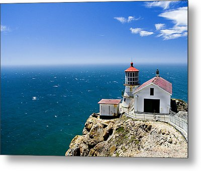 Point Reyes Lighthouse California Metal Print by Yulia Kazansky