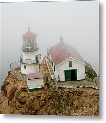 Point Reyes Lighthouse Metal Print by Art Block Collections