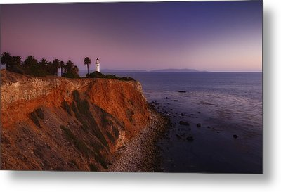 Point Vicente Lighthouse - Sunset Panorama - Rancho Palo Verdes Metal Print