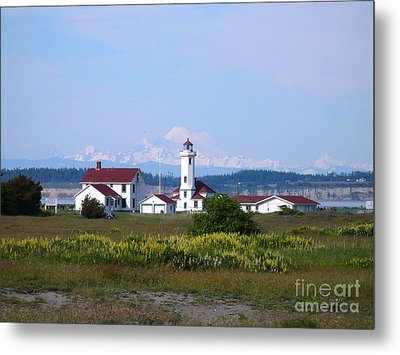 Point Wilson Light Metal Print by Gayle Swigart