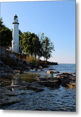 Pointe Aux Barques Lighthouse 1 Metal Print by George Jones