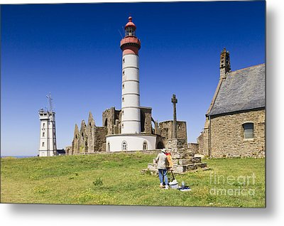 Pointe Saint Mathieu Brittany France Metal Print by Colin and Linda McKie
