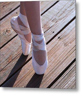 Pointe Shoes Metal Print