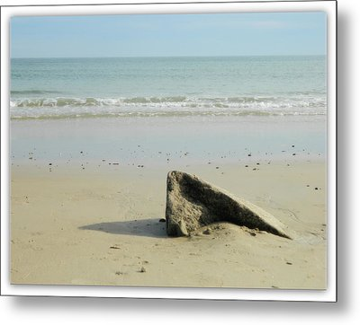Pointed Rock At Squibby Metal Print by Kathy Barney